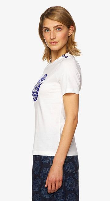 베네통(Benetton) Birds print with t-shirt_3096E17F7074