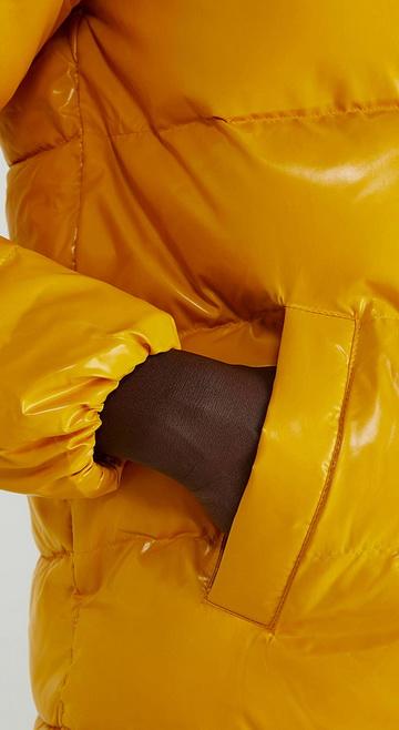 베네통(Benetton) Basic hoodie padding jumper_2EO0536G329U